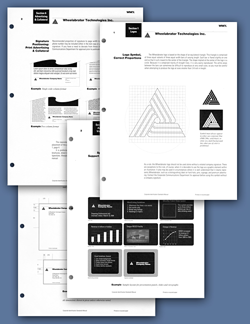 pages from a corporate identity manual